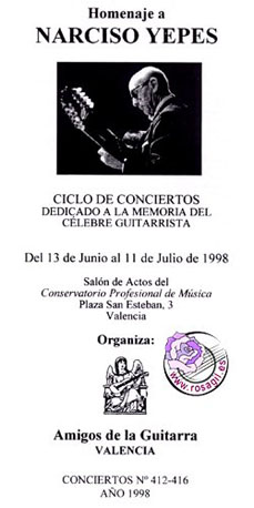 13 jun 1998: Homenaje a Narciso Yepes